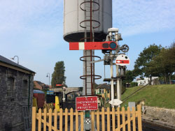 Click to view Water tower on Swanage Railway