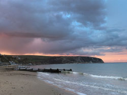 Click to view Sunset on Swanage beach