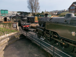 Click to view The turntable on Swanage Railway