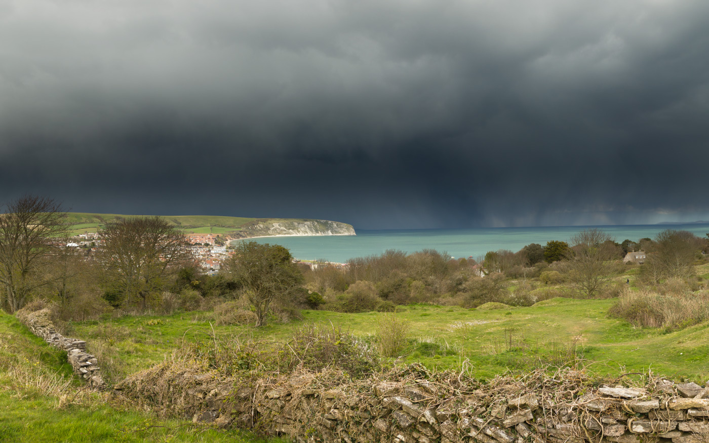 Storms over Swanage