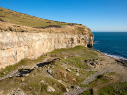 Click to view Dancing Ledge quarry face