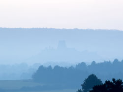 Click to view Corfe Castle in the mist