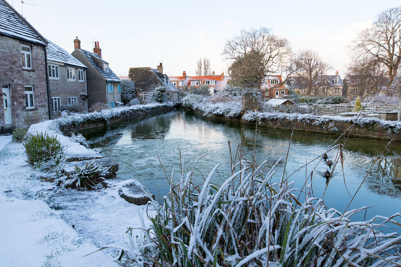 Mill Pond and Snow in the winter