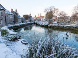 Click to view Mill Pond and Snow in the winter
