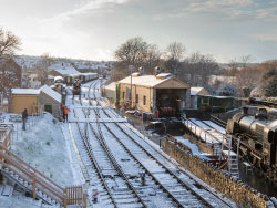Click to view Snow at the Railway