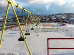 Click to view Snow on the Swings