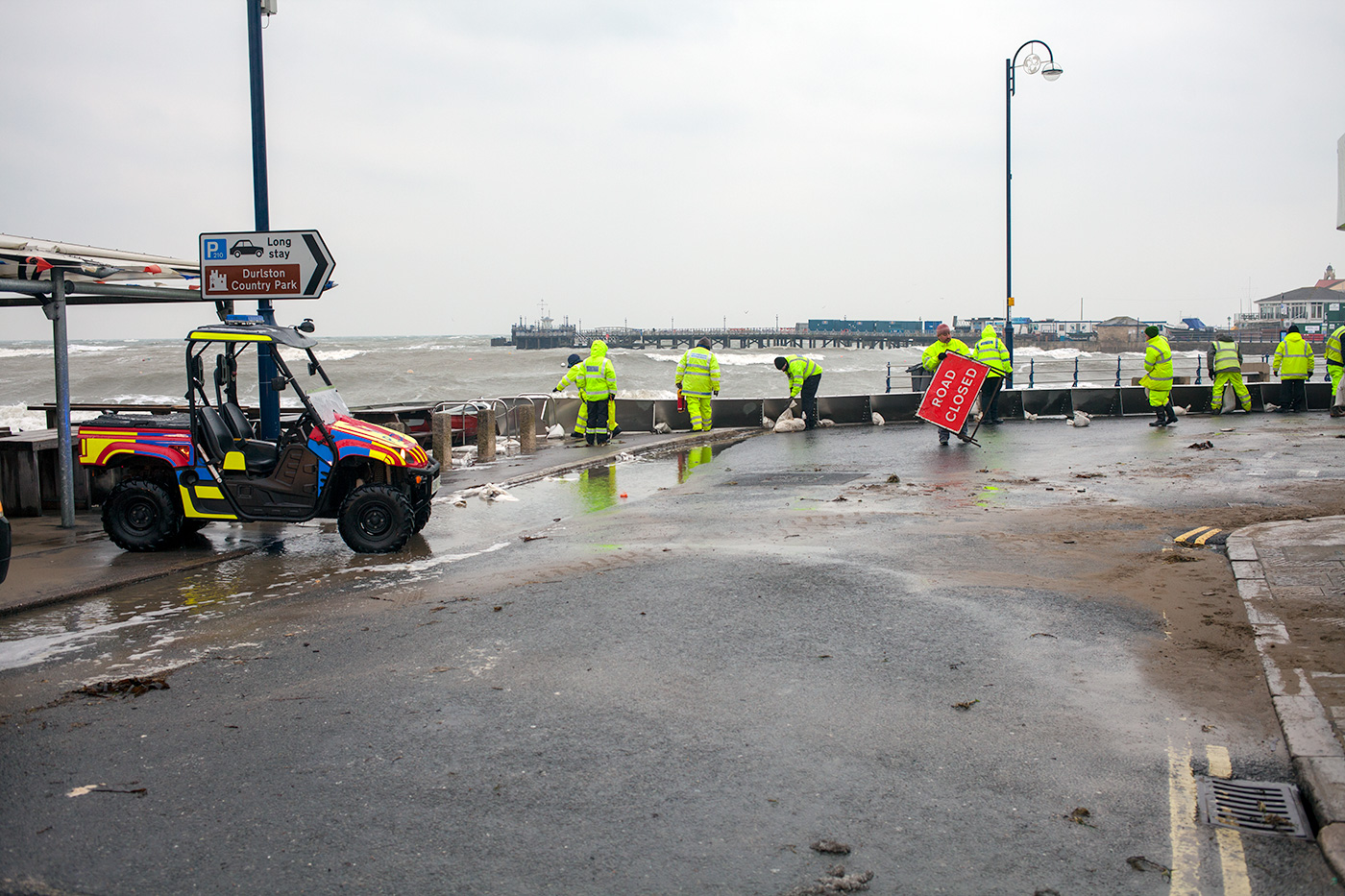 Sea Defences being repaired