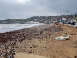 Click to view Swanage beach after Storm Emma
