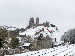 Corfe Castle from the Station - Ref: VS1842