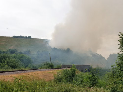 Click to view Hill Fire at Corfe Castle