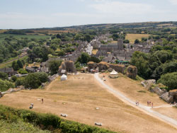 Click to view Corfe village from the Castle