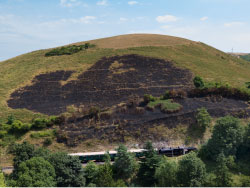 Click to view After the fire at Corfe Castle