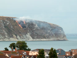 Click to view Fire on Ballard Down