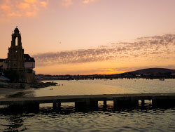 Sunset over Swanage Pier - Ref: VS1868