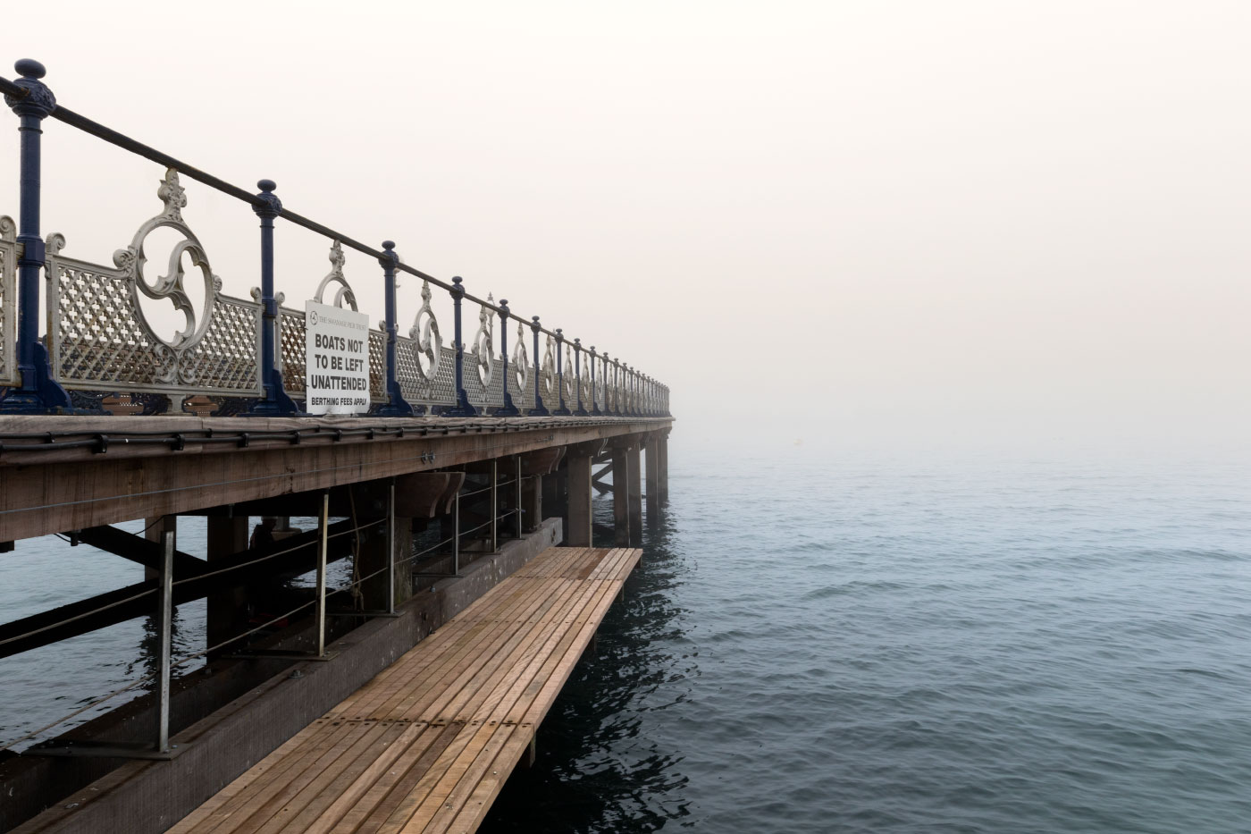 Fog at the pier walkway