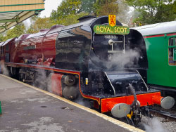 Click to view Duchess of Sutherland at Swanage Railway