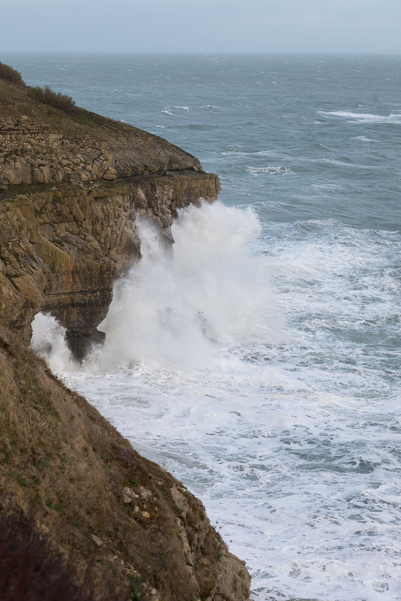Storms at Durlston Cliffs