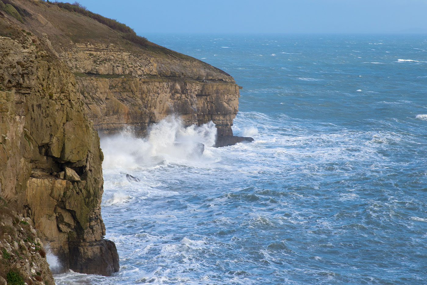 Storms at Durlston Head