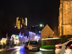 Click to view Christmas Lights at Corfe Castle