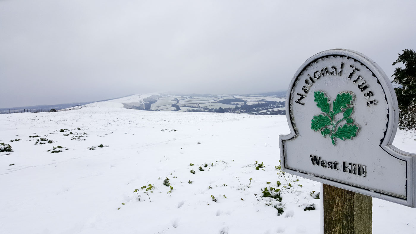 Purbeck Hills in the Snow