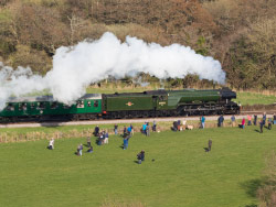 Flying Scotsman at Corfe Castle - Ref: VS1932