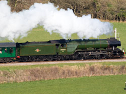 Click to view Flying Scotsman leaving Norden Station