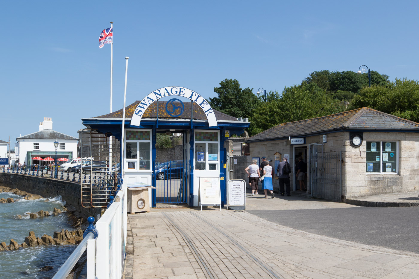 Entrance to Swanage Pier