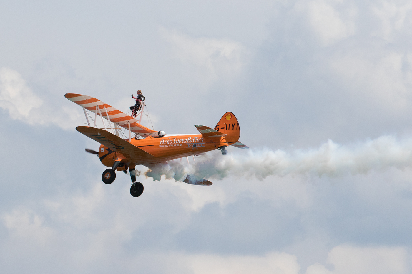 AeroSuperBatics Wingwalkers at Swanage Carnival