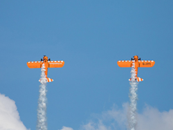 Click to view AeroSuperBatics Wingwalkers at Swanage Carnival