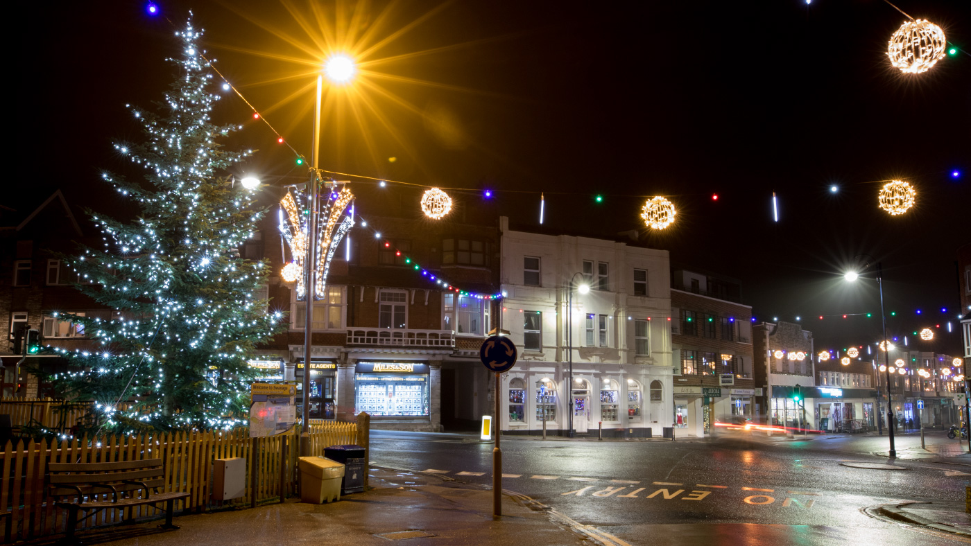 Station Road and Christmas Tree