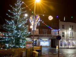 Click to view Station Road and Christmas Tree
