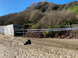 Click to view Ocean Bay landslides behind Beach Huts 29 Feb