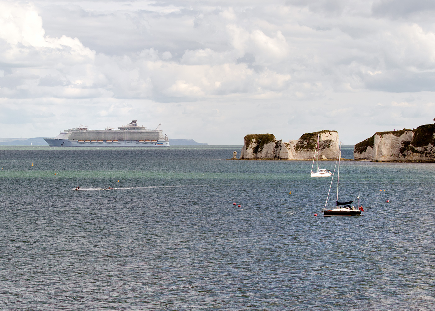 Anthem of the Seas and Old Harry Rocks