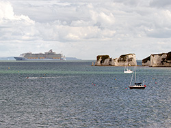 Click to view Anthem of the Seas and Old Harry Rocks