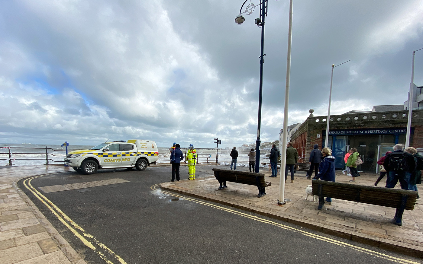 Coastguard and Onlookers