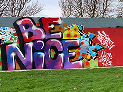 Click to view The Swanage Graffiti Wall