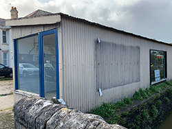 Click to view Last of the corrugated buildings