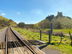Click to view Corfe Castle and the Railway Line.
