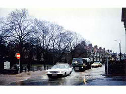 Church Hill floods in 1981 - Ref: VS121