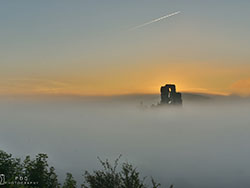 Click to view Corfe Castle Misty Sunrise