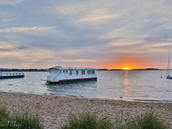 Click to view House Boat Sunset