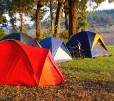 Campsites and camping